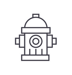 water towerhydrant line icon sig vector image