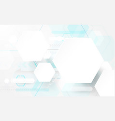 abstract geometric shape technology concept vector image