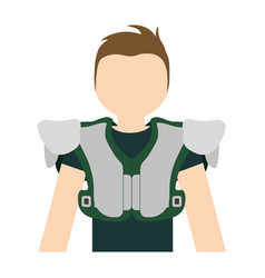 american football player man vector image vector image