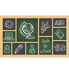 Back to school sketch icon set vector image