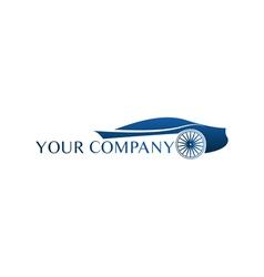 Blue car logo vector image vector image