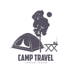 camping logo template vector image vector image