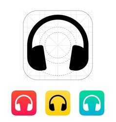 Dj Headphones icon vector image vector image