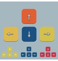 keyboard arrow set on gray vector image