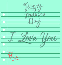 mother day theme greeting card style vector image vector image