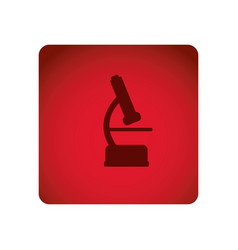 red emblem microscope icon vector image