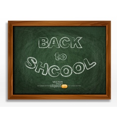 school board isolated on white background vector image vector image