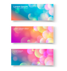 set of banners with abstract circles vector image vector image