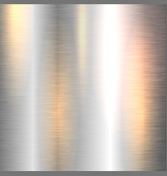 shiny metal background vector image vector image