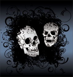skull tattoo background vector image vector image