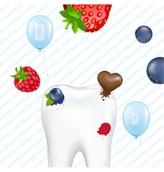 Tooth And Chewing Gum vector image vector image