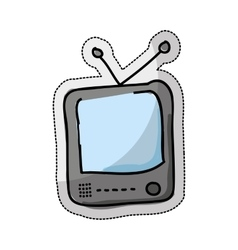 tv retro drawing isolated icon vector image vector image
