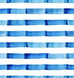Watercolor pattern with strips vector image vector image