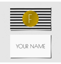 business card bwgold 2015 7 vector image
