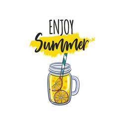 calligraphy with lemonade vector image