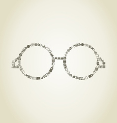 Glasses science vector image vector image