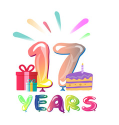 happy anniversary 17 years vector image