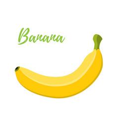 banana cartoon flat style vector image vector image