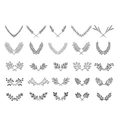 collection of vintage dividers vector image vector image