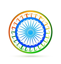 indian flag design concept with blue wheel vector image