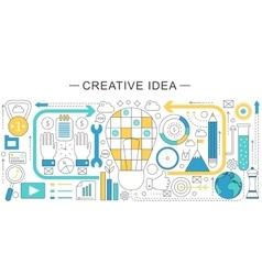 modern line flat creative idea sales vector image vector image