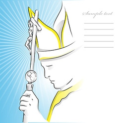 pope background vector image