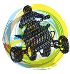 Sportsman riding quad bike vector image