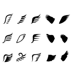 wing icons vector image