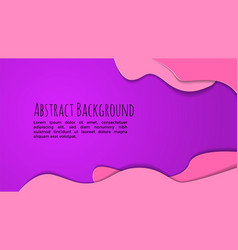 abstract background pink andd purple paper cut vector image