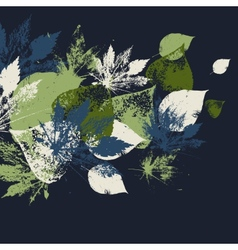 Abstract seamless pattern with leaves vector