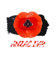 anzac day card bright poppy flower vector image
