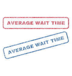 Average wait time textile stamps vector