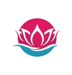 Beauty lotus flowers design logo Template vector image
