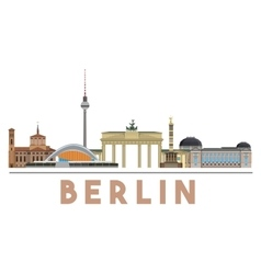 Berlin Landmarks Skyline vector