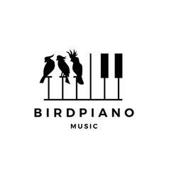bird competition piano music course event logo vector image