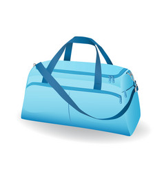 blue sport bag for sportswear and equipment icon vector image