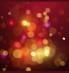 bokeh light shimmering colorful blur spot lights vector image