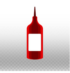 Bottle of ketchup on a vector