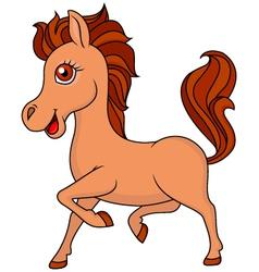 Brown horse cartoon vector