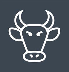 Bull market thin line icon vector