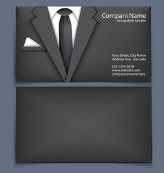 Business card with suit vector