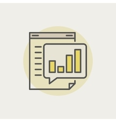 Business report colorful icon vector