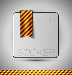 Business stickers on the gray background design vector