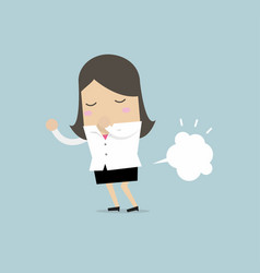 businesswoman farting vector image