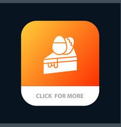 Cake dessert easter egg mobile app button android vector
