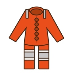 Cartoon orange suit overall uniform worker vector