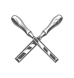 Chisels isolated on white background vector