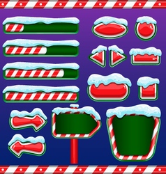Christmas user interface for mobile or computer vector