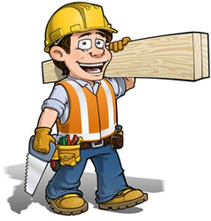Construction Worker Carpenter vector