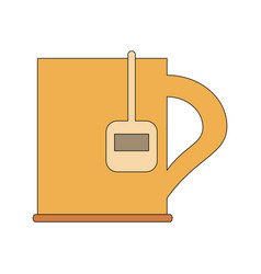 Cup with tea bag icon image vector